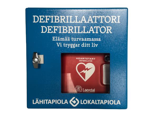 Defibrillaattorin seinäkaapit ja lisävarusteet